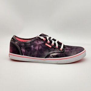 Vans Off the Wall Canvas Shoes Purple Tie Dye